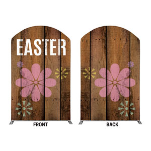 Easter Wood and Flowers 5' x 8' Curved Top Sleeve