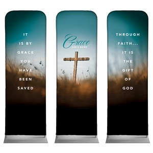 Grace Has A Name 2 x 6 Sleeve Banner