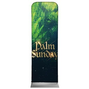 Palm Sunday Green Donkey 2 x 6 Sleeve Banner