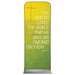 "Color Wash John 3:16 2'7"" x 6'7"" Sleeve Banners"