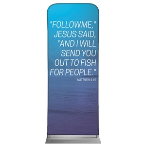 "Color Wash Matt 4:19 2'7"" x 6'7"" Sleeve Banners"