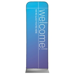 Color Wash Welcome 2 x 6 Sleeve Banner