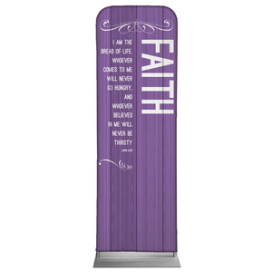 Painted Wood Faith 2 x 6 Sleeve Banner