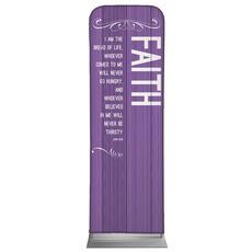 Painted Wood Faith Banner