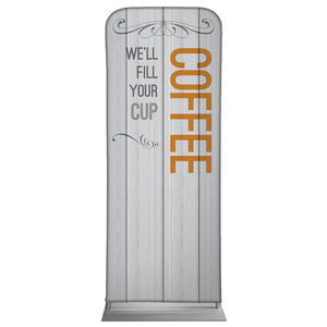 Painted Wood Coffee Banners