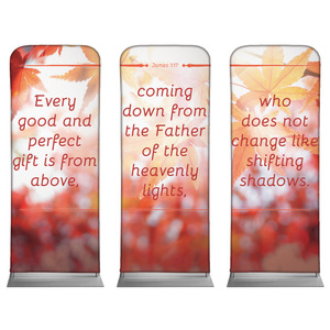 James 1:17 Leaves Banners