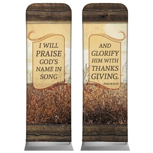 Psalm 69:30 Wheat 2 x 6 Sleeve Banner