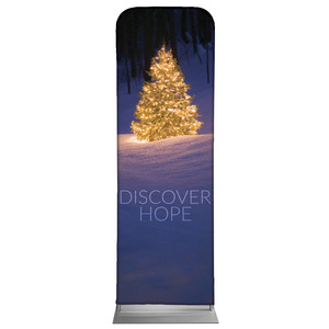 Discover Hope Bright Tree 2 x 6 Sleeve Banner