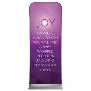 "Advent Luke 2 Joy 2'7"" x 6'7"" Sleeve Banners"