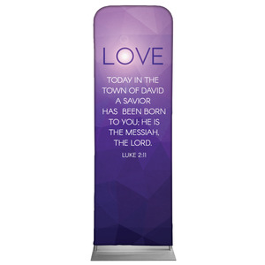 Advent Luke 2 Love 2 x 6 Sleeve Banner