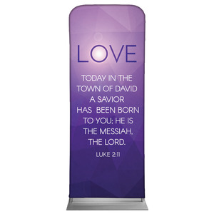 "Advent Luke 2 Love 2'7"" x 6'7"" Sleeve Banners"