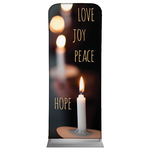 "Candle Advent Words 2'7"" x 6'7"" Sleeve Banners"