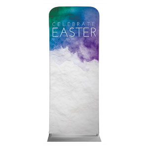 "Celebrate Watercolor Easter 2'7"" x 6'7"" Sleeve Banners"