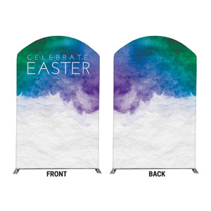 Celebrate Watercolor Easter 5' x 8' Curved Top Sleeve