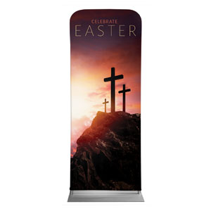 "Easter Crosses Hilltop 2'7"" x 6'7"" Sleeve Banners"