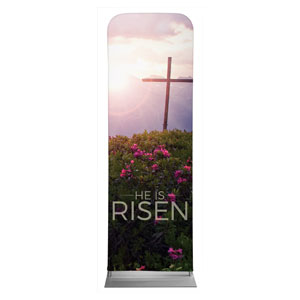 He Is Risen Mountain 2 x 6 Sleeve Banner