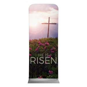 "He Is Risen Mountain 2'7"" x 6'7"" Sleeve Banners"