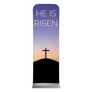 He Is Risen Sunrise 2 x 6 Sleeve Banner