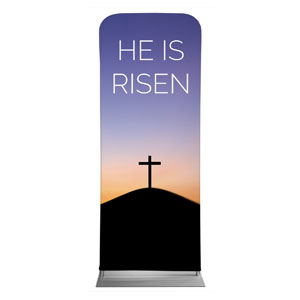 "He Is Risen Sunrise 2'7"" x 6'7"" Sleeve Banners"