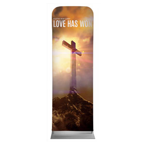 Love Has Won 2 x 6 Sleeve Banner
