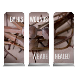 "By His Wounds 2'7"" x 6'7"" Sleeve Banners"