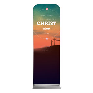 Christ Died For Us 2 x 6 Sleeve Banner