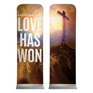Love Has Won Pair 2 x 6 Sleeve Banner