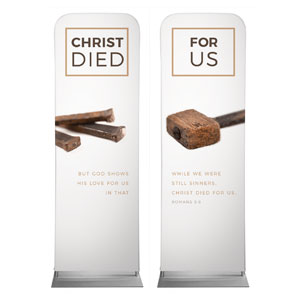 Died For Us Rom 5:8 Banners