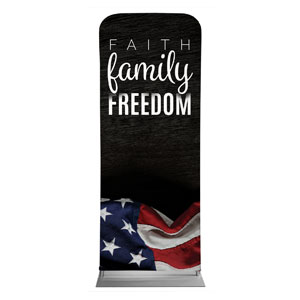 "Faith Family Freedom 2'7"" x 6'7"" Sleeve Banners"
