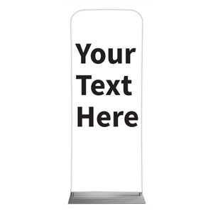 "Your Text Here Black 2'7"" x 6'7"" Sleeve Banners"