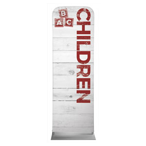 Shiplap Children White Banners