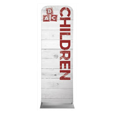 Shiplap Children White Banner