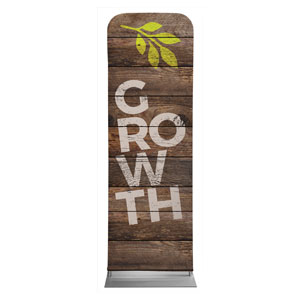 Shiplap Growth Natural 2 x 6 Sleeve Banner