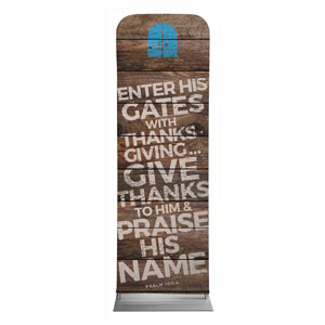 Shiplap Psalm 100:4 Natural Banners