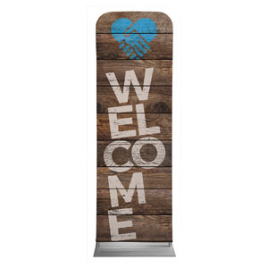 Shiplap Welcome Natural Banners