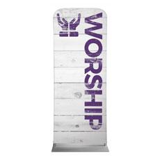Shiplap Worship White Banner