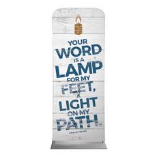 Shiplap Psalm 119:105 White Banner
