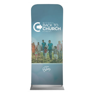 "Back to Church Sunday People 2'7"" x 6'7"" Sleeve Banners"