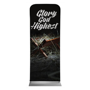 "Glory God Manger 2'7"" x 6'7"" Sleeve Banners"