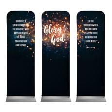 Glory to God Stars Banner