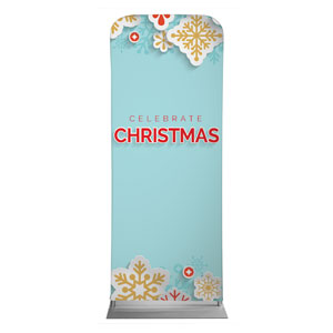 "Paper Snowflakes 2'7"" x 6'7"" Sleeve Banners"