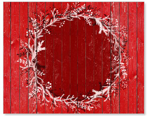 Red Winter Wreath Banners