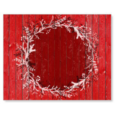 Red Winter Wreath Banner