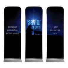 Blue Savior Born Banner