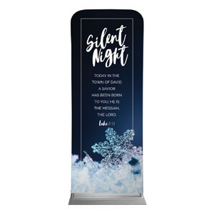 Silent Night Snowflake Banners