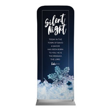 Silent Night Snowflake Banner