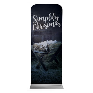 Simplify Christmas Manger Banners