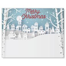 Snowy Village Banner