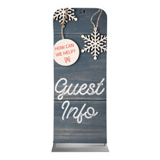 Wood Ornaments Guest Info Banner