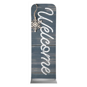 Wood Ornaments Welcome 2 x 6 Sleeve Banner